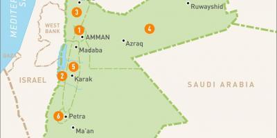 Carte Jordanie Petra.La Jordanie Carte Cartes De Jordanie A L Ouest De L Asie